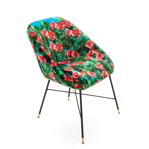 CHAISE REMBOURREE ROSES WITH EYES