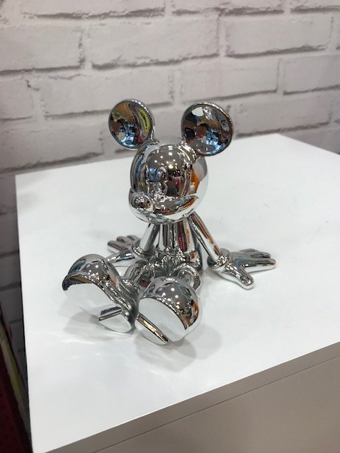 Sitting Mickey Chromé argent by Marcel Wanders