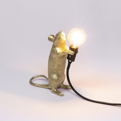 Lampe mouse gold standing