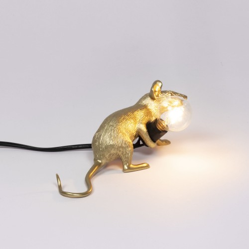 Lampe mouse gold lying
